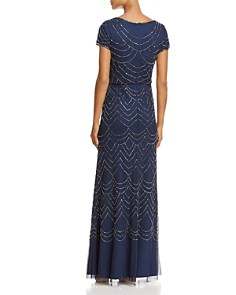 Adrianna Papell - Beaded Blouson Gown