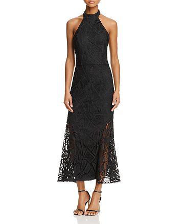 Jarlo - Lace Halter Midi Dress