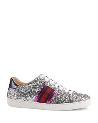 Gucci New Ace Glitter Low Top Lace Up
