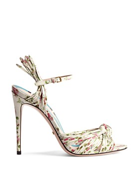 Gucci - Women's Leather Knotted High-Heel Sandals
