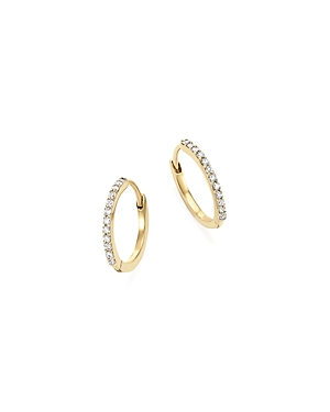 Mateo 14K Yellow Gold Diamond Huggie Hoop Earrings