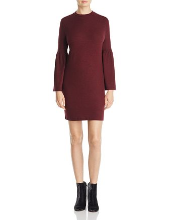 B Collection by Bobeau - Bell Sleeve Sweater Dress - 100% Exclusive