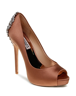 Badgley Mischka Peep Toe Platform Evening Pumps - Kiara High Heel