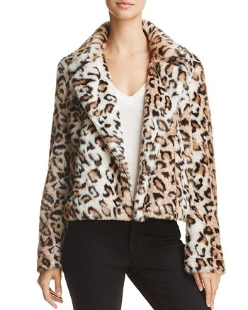 Sunset & Spring - Leopard-Print Faux Fur Jacket - 100% Exclusive