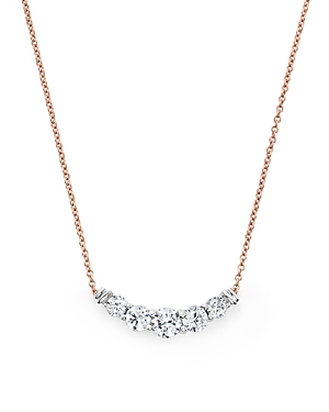 Diamond Graduated Pendant Necklace in 14K Rose Gold, .50 ct. t.w. - 100% Exclusive