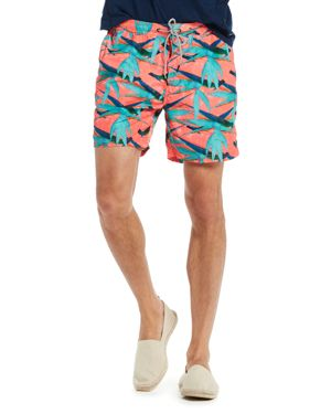 Scotch & Soda Flamingo-Print Swim Trunks