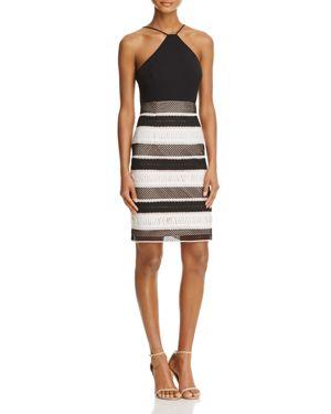 Aidan Mattox Contrast Lace Dress