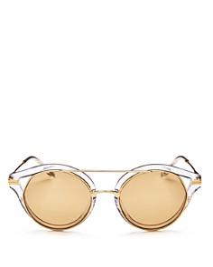 Sonix - Women's Preston Mirrored Round Sunglasses, 51mm