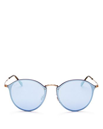 Ray-Ban - Unisex Mirrored Round Sunglasses, 59mm