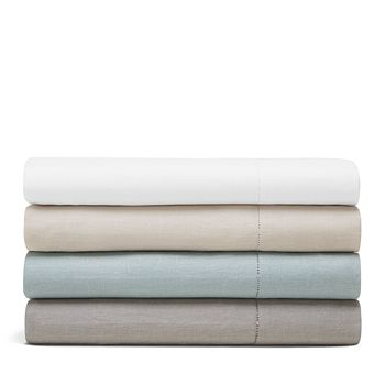 Amalia Home Collection - Stonewashed Linen Fitted Sheet, California King - 100% Exclusive