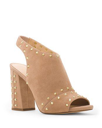 e12d73af0742 MICHAEL Michael Kors - Women s Astor Suede Studded Slingback Block Heel  Sandals