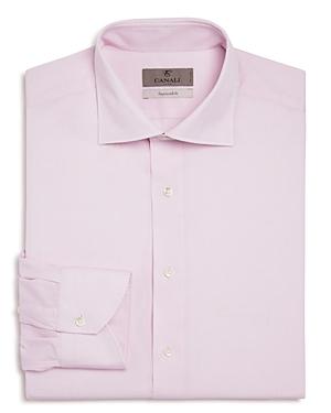 Canali Impeccabile Mini Check Textured Regular Fit Dress Shirt