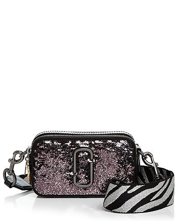 MARC JACOBS - Snapshot Sequin Leather Camera Bag