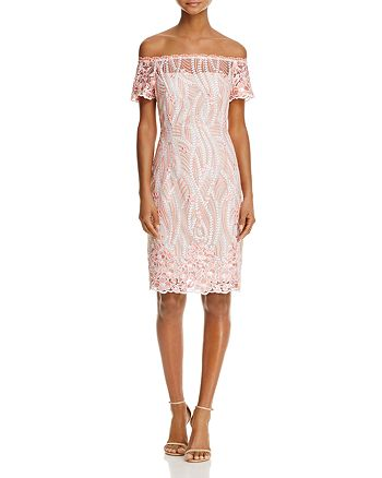 Adrianna Papell - Off-the-Shoulder Lace Dress