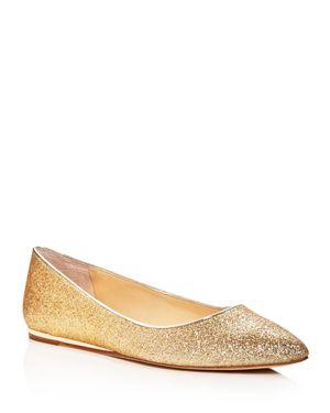 Imagine Vince Camuto Genesa Glitter Pointed Toe Ballet Flats 2606968