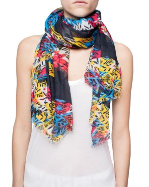 Zadig & Voltaire Kerry Feather Butterfly Oversized Scarf