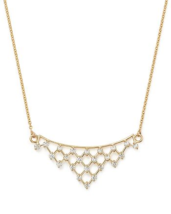 Bloomingdale's - Diamond Lattice Pendant Necklace in 14K Yellow Gold, .50 ct. t.w. - 100% Exclusive