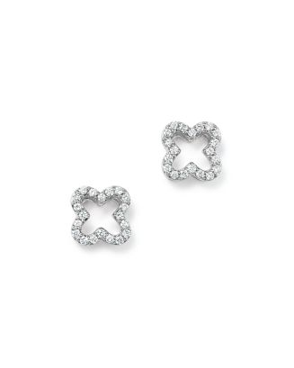 Diamond Clover Stud Earrings In 14 K White Gold, .20 Ct. T.W.  100% Exclusive by Bloomingdale's