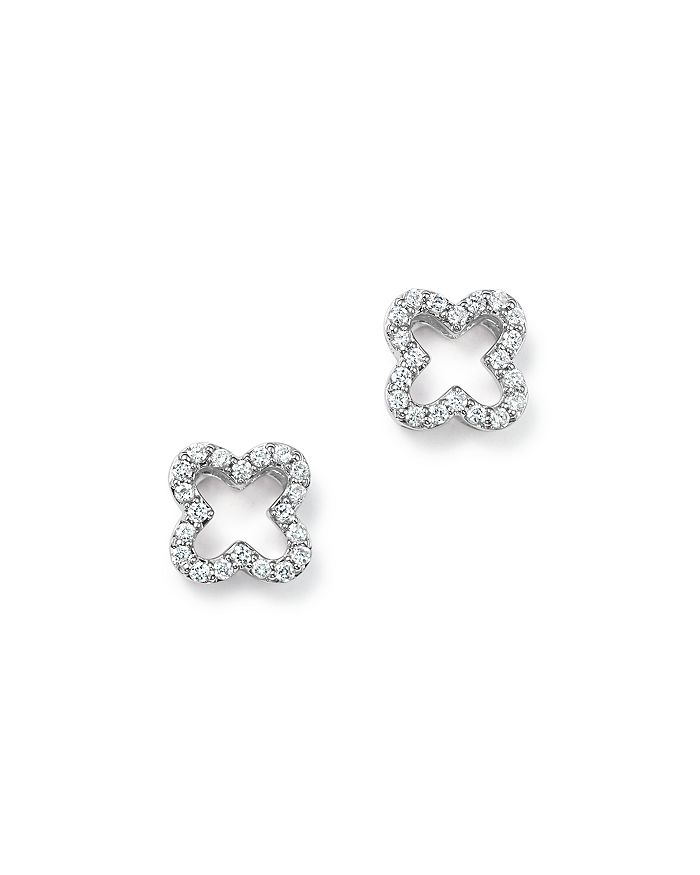 Bloomingdale's - Diamond Clover Stud Earrings in 14K Yellow Gold, White Gold, or Rose Gold, 0.20 ct. t.w. - 100% Exclusive