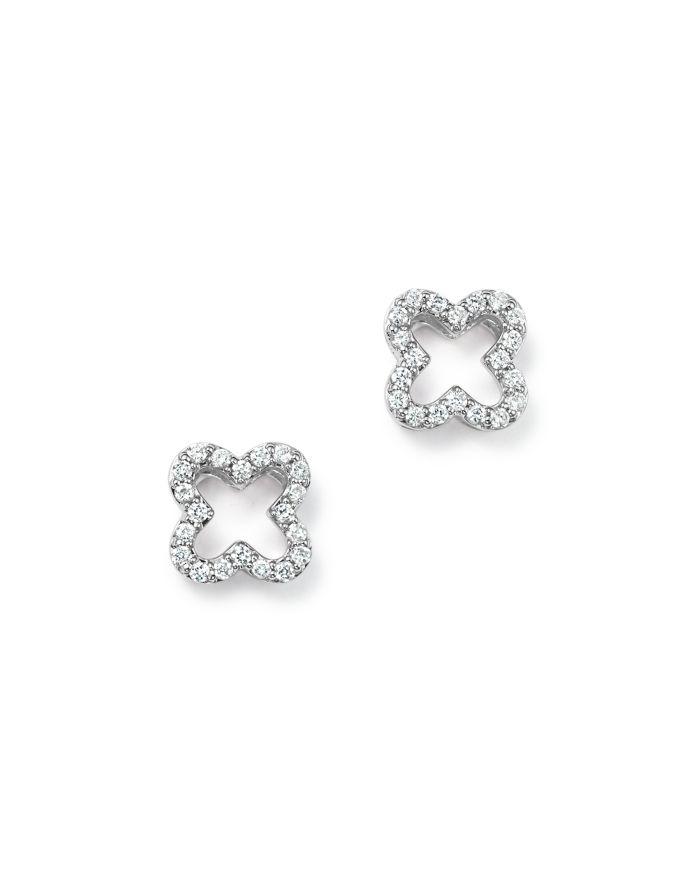 Bloomingdale's Diamond Clover Stud Earrings in 14K White Gold, .20 ct. t.w.- 100% Exclusive     Bloomingdale's