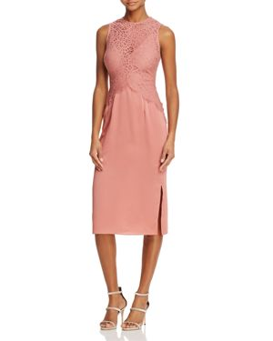 Keepsake Be the One Lace-Bodice Midi Dress