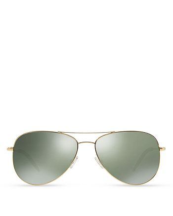 Oliver Peoples - Women's Kannon Mirrored Aviator Sunglasses, 59mm