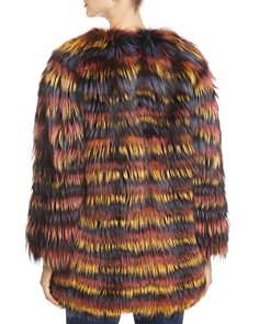 Maximilian Furs - Multicolored Fox Fur Coat