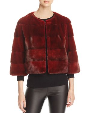 Maximilian Furs Cropped Nafa Mink Fur Jacket - 100% Exclusive