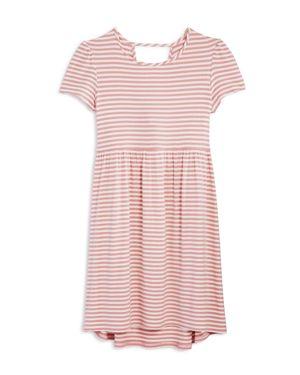 Aqua Girls' Textured Striped Dress, Big Kid - 100% Exclusive