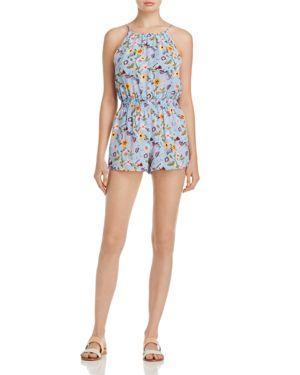 Aqua Floral & Stripe Romper - 100% Exclusive