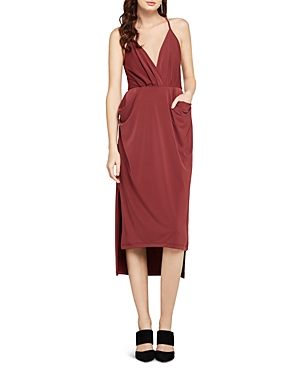 BCBGeneration Faux-Wrap Midi Dress