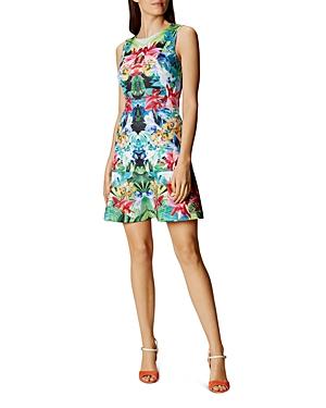 Karen Millen Tropical Print Scuba Dress