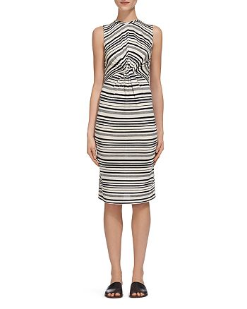 Whistles - Carrie Striped Twist-Front Dress
