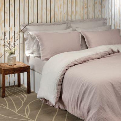 Stonewashed Linen Flat Sheet, King - 100% Exclusive