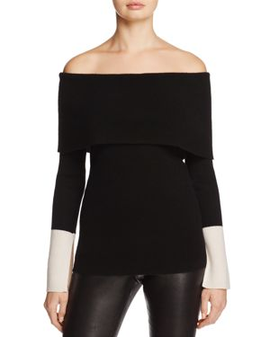 C by Bloomingdale's Cashmere Off-the-Shoulder Sweater - 100% Exclusive