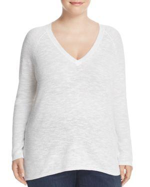 Eileen Fisher Plus V-Neck Sweater
