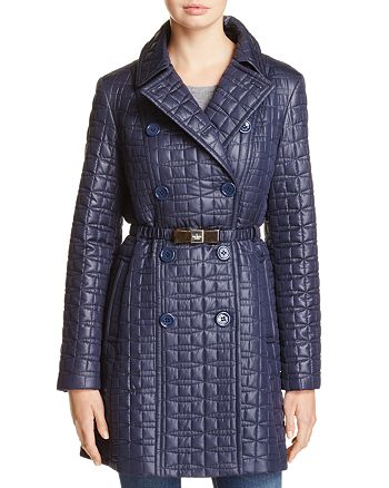 kate spade new york - Bow Quilted Trench Coat