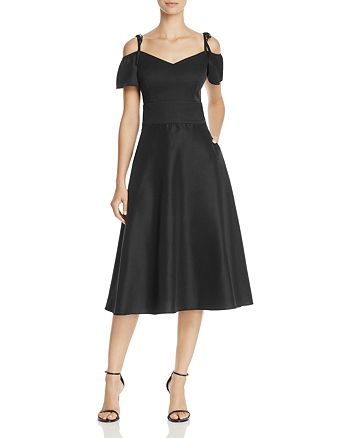 Betsey Johnson - Cold-Shoulder Tea-Length Dress