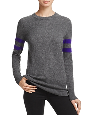 Aqua Cashmere Varsity Stripe Cashmere Sweater - 100% Exclusive