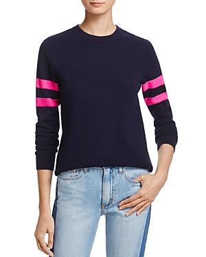 Aqua Cashmere Varsity Stripe Cashmere Sweater - 100% Exclusive