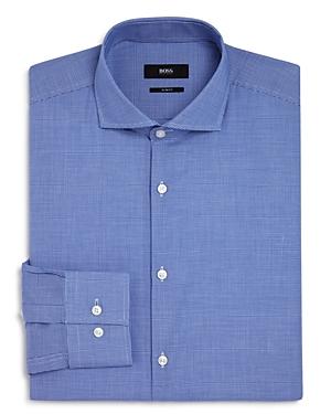 Boss Jason Puppytooth Grid Slim Fit Dress Shirt