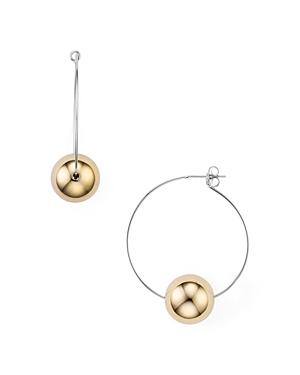 Argento Vivo Two-Tone Sphere Hoop Earrings