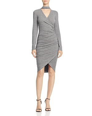 Bardot Alex Cutout Faux Wrap Dress
