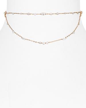 Nadri Ivy Cubic Zirconia Chain Choker Necklace, 12
