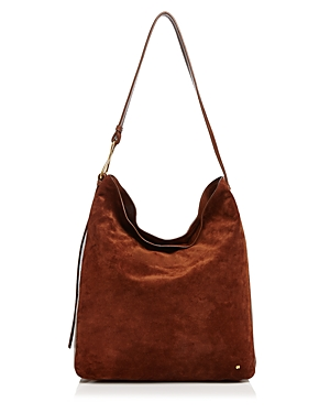 Halston Heritage Elsa Large Suede and Leather Shoulder Bag