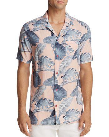 BANKS - Island Flair Fern Print Slim Fit Button-Down Shirt