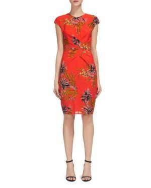 Whistles Cactus Print Body-Con Dress
