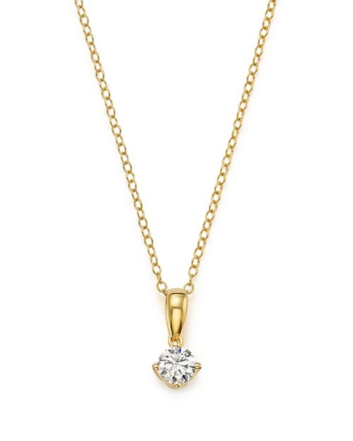 Bloomingdale's - Diamond Solitaire Tulip Pendant Necklace in 14K Yellow Gold, .33 ct. t.w. - 100% Exclusive