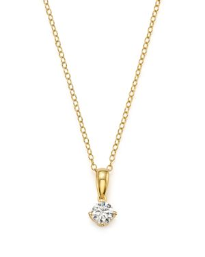 Diamond Solitaire Tulip Pendant Necklace in 14K Yellow Gold, .33 ct. t.w. - 100% Exclusive