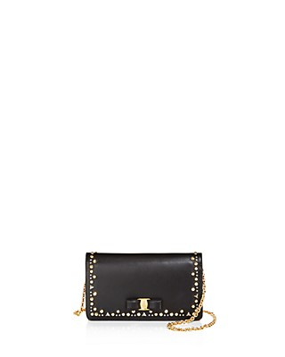 Clearance Clearance Store Salvatore Ferragamo studded Vara chain wallet Discount Authentic Online Free Shipping Explore Outlet Classic hS3ERYCXO
